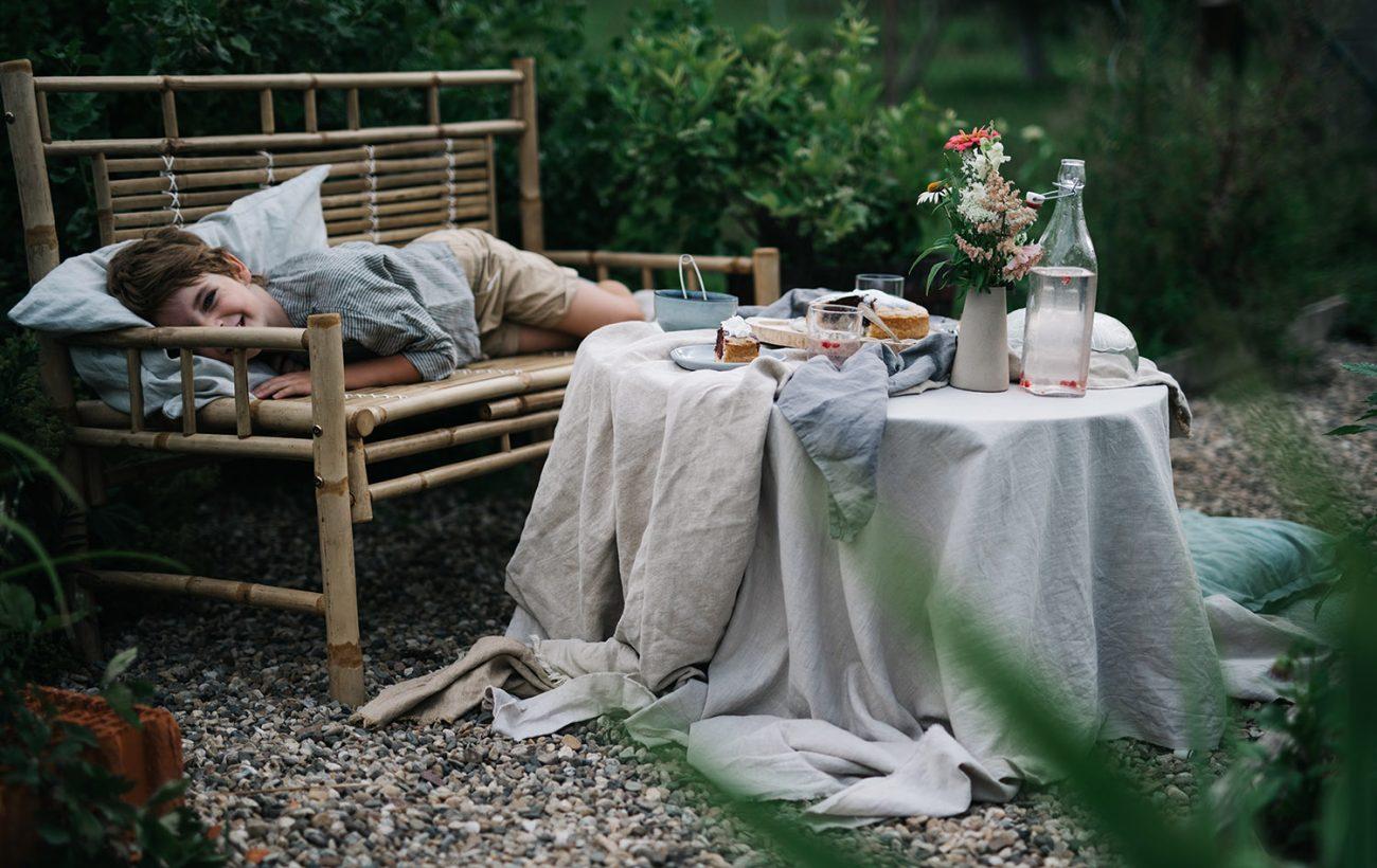 piknik v záhrade