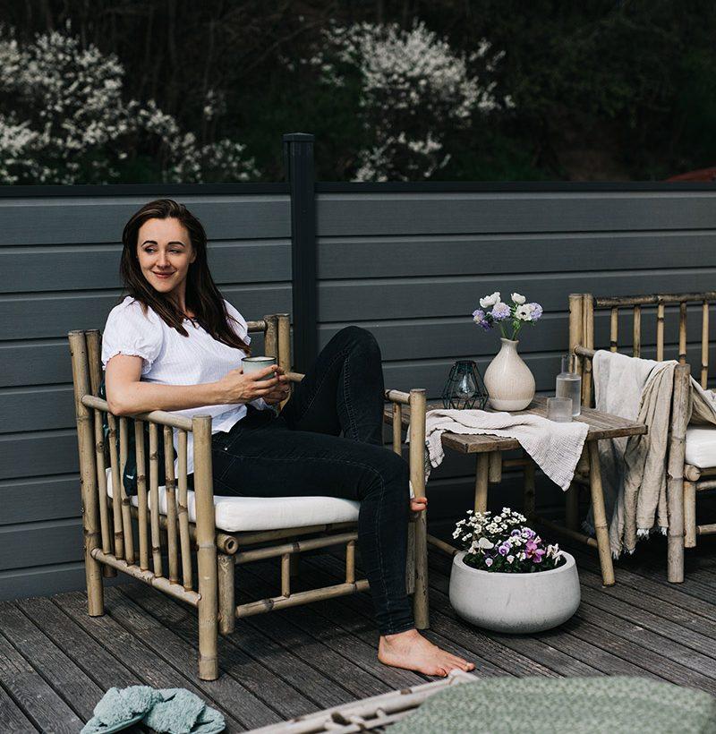 prvé chvíle na terase
